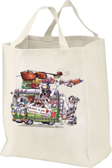 Australian Shepherd - Bark If You Love Dogs - Tote Bag