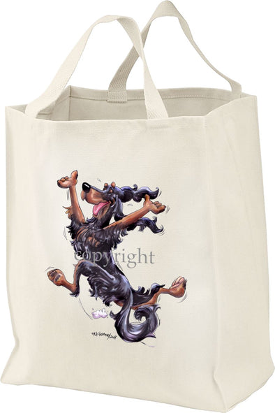 Gordon Setter - Happy Dog - Tote Bag