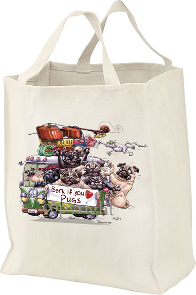Pug - Bark If You Love Dogs - Tote Bag