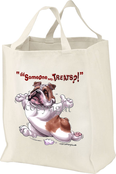 Bulldog - Treats - Tote Bag