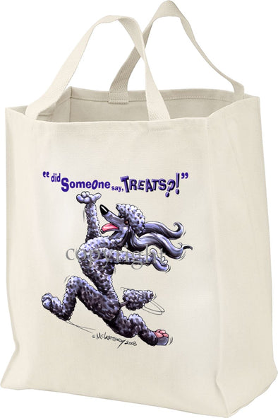 Poodle  Black - Treats - Tote Bag