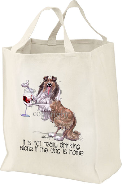 Collie - It's Not Drinking Alone - Tote Bag