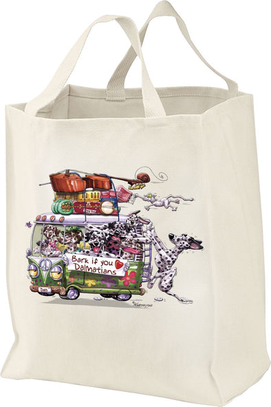 Dalmatian - Bark If You Love Dogs - Tote Bag