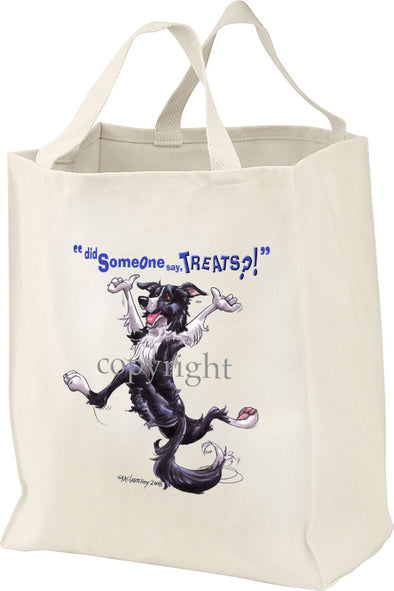 Border Collie - Treats - Tote Bag