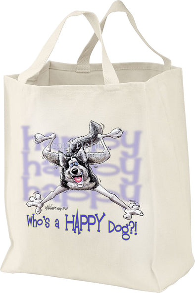 Siberian Husky - Who's A Happy Dog - Tote Bag