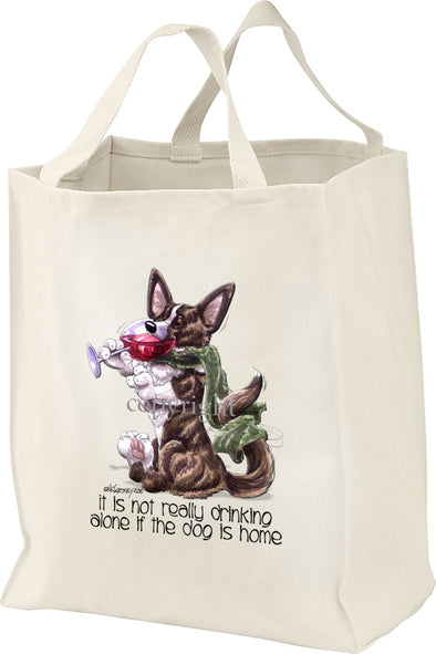 Welsh Corgi Cardigan - It's Not Drinking Alone - Tote Bag