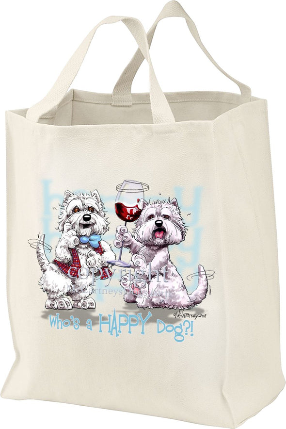 West Highland Terrier - Who's A Happy Dog - Tote Bag