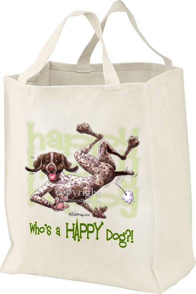 German Shorthaired Pointer - Who's A Happy Dog - Tote Bag