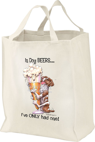 Brittany - Dog Beers - Tote Bag