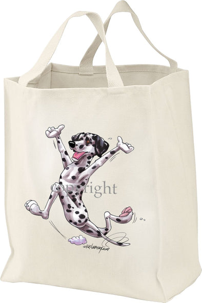 Dalmatian - Happy Dog - Tote Bag