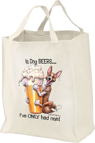 Basenji - Dog Beers - Tote Bag