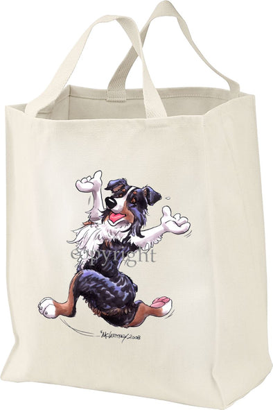 Australian Shepherd  Black Tri - Happy Dog - Tote Bag
