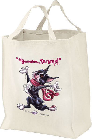 Boston Terrier - Treats - Tote Bag