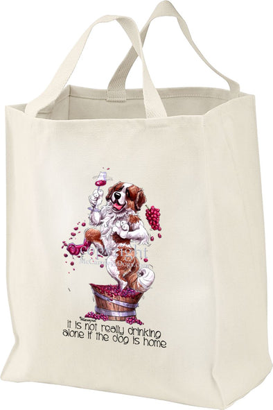 Saint Bernard - It's Not Drinking Alone - Tote Bag
