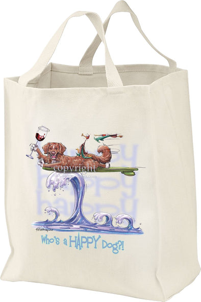 Nova Scotia Duck Tolling Retriever - Who's A Happy Dog - Tote Bag