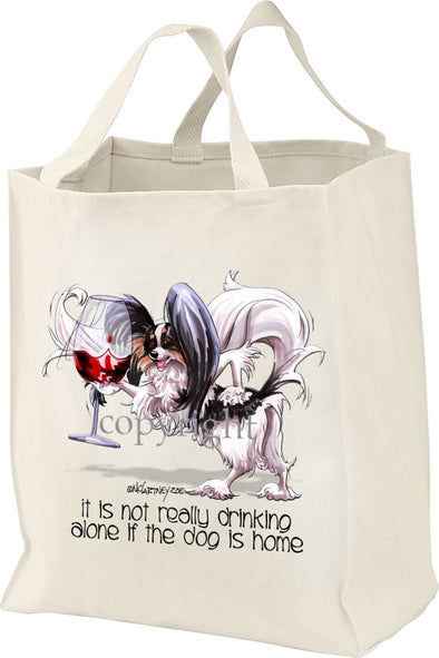 Papillon - It's Not Drinking Alone - Tote Bag
