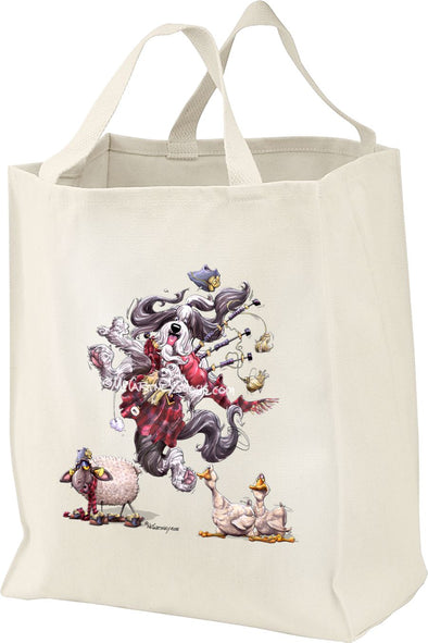 Bearded Collie - Bagpipes - Mike's Faves - Tote Bag