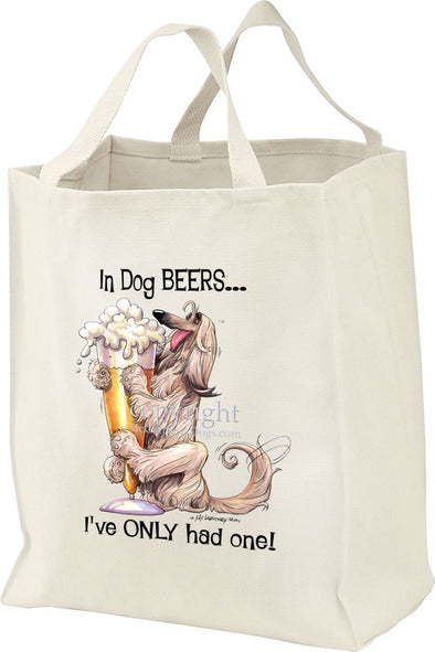 Afghan Hound - Dog Beers - Tote Bag