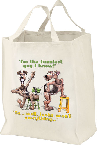 Airedale Terrier - Funniest Guy - Mike's Faves - Tote Bag