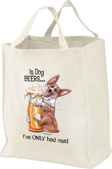 Welsh Corgi Pembroke - Dog Beers - Tote Bag
