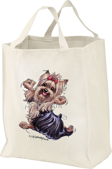 Yorkshire Terrier - Happy Dog - Tote Bag
