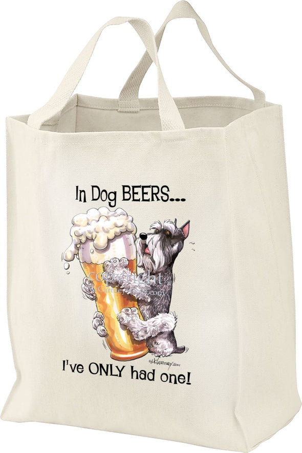 Schnauzer - Dog Beers - Tote Bag