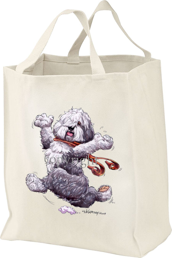Old English Sheepdog - Happy Dog - Tote Bag
