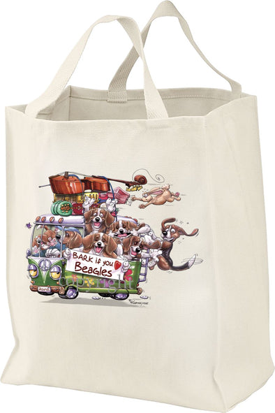 Beagle - Bark If You Love Dogs - Tote Bag