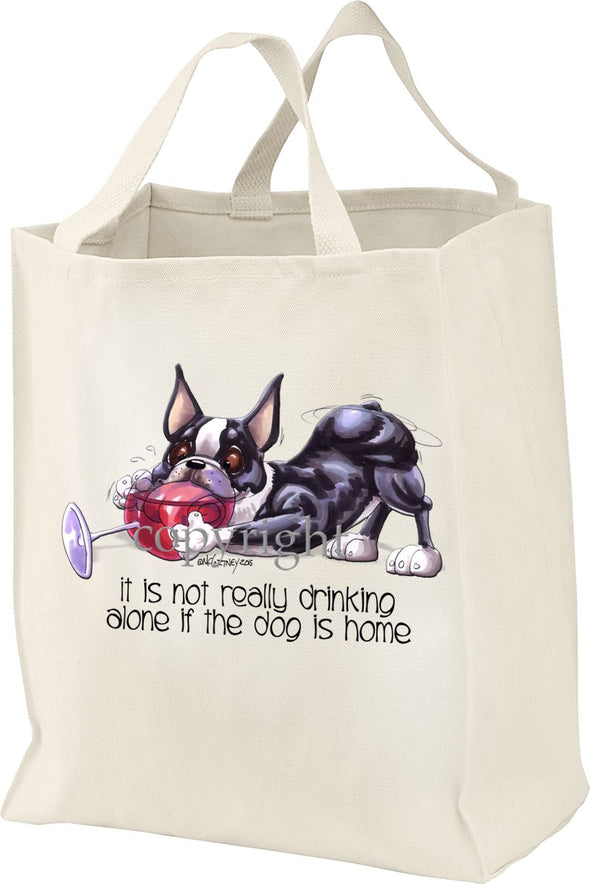Boston Terrier - It's Not Drinking Alone - Tote Bag