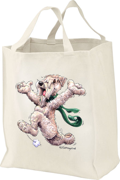 Soft Coated Wheaten - Happy Dog - Tote Bag