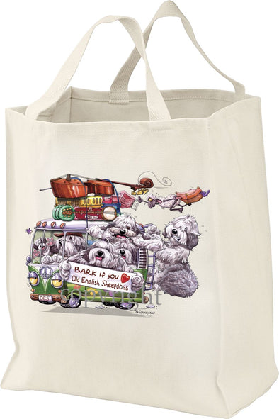 Old English Sheepdog - Bark If You Love Dogs - Tote Bag