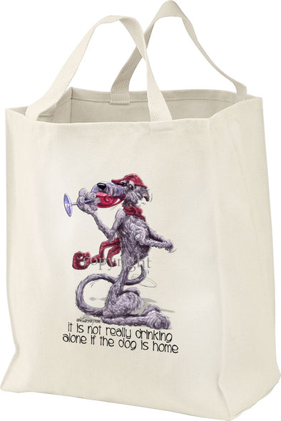 Scottish Deerhound - It's Not Drinking Alone - Tote Bag