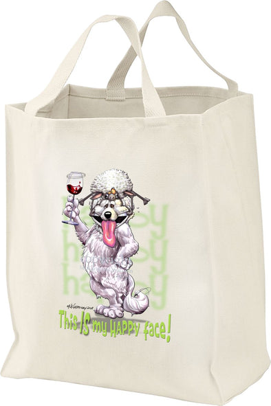 Great Pyrenees - Who's A Happy Dog - Tote Bag