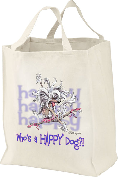 Chinese Crested - Who's A Happy Dog - Tote Bag