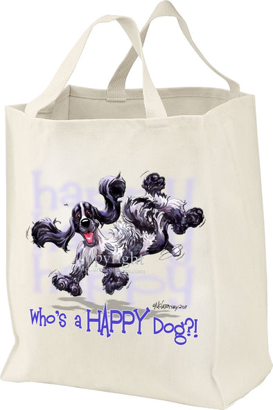 English Cocker Spaniel - Who's A Happy Dog - Tote Bag