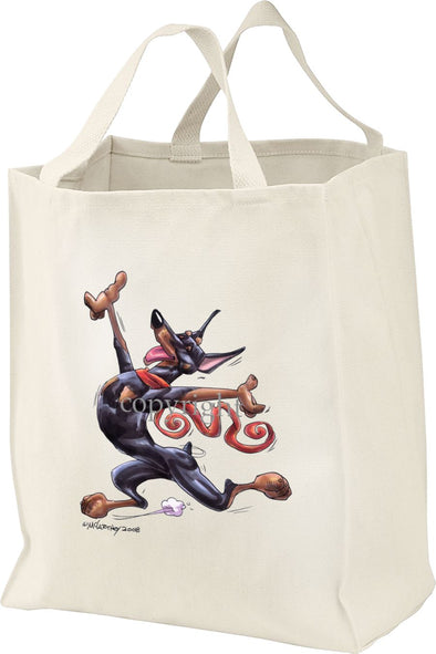 Doberman Pinscher - Happy Dog - Tote Bag