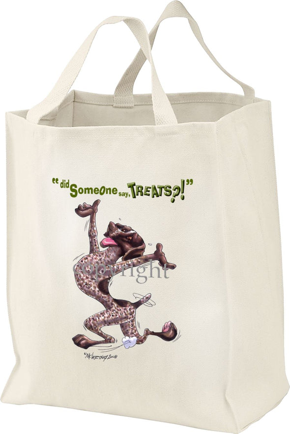 German Shorthaired Pointer - Treats - Tote Bag