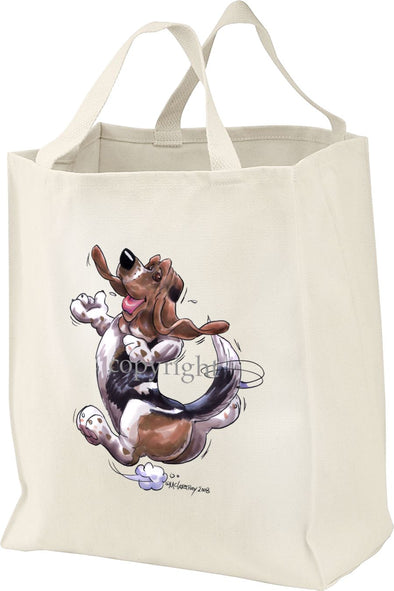 Basset Hound - Happy Dog - Tote Bag