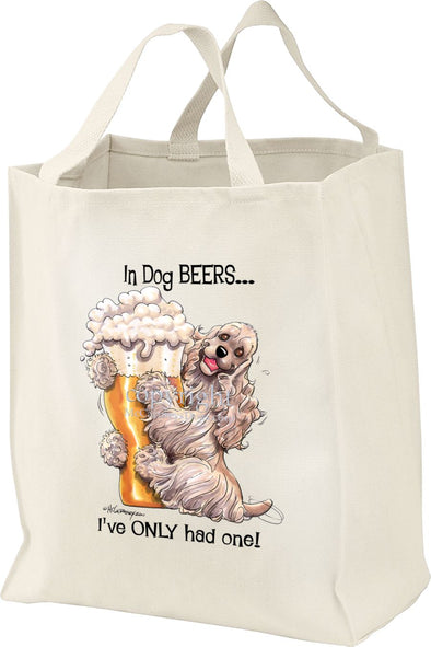 Cocker Spaniel - Dog Beers - Tote Bag