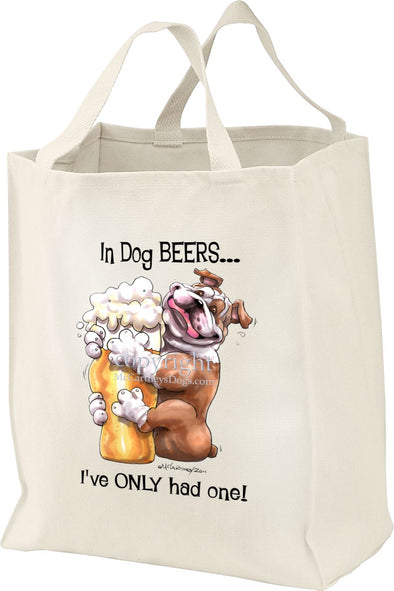 Bulldog - Dog Beers - Tote Bag