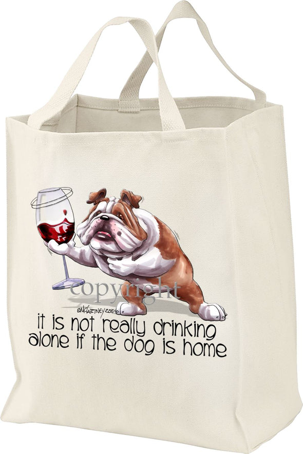 Bulldog - It's Not Drinking Alone - Tote Bag