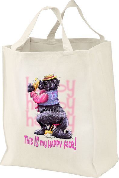 Newfoundland - Who's A Happy Dog - Tote Bag