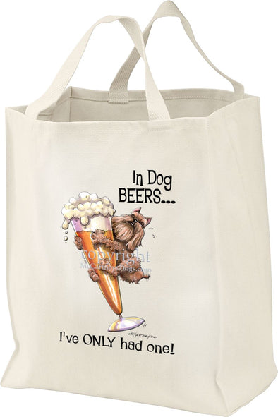 Brussels Griffon - Dog Beers - Tote Bag