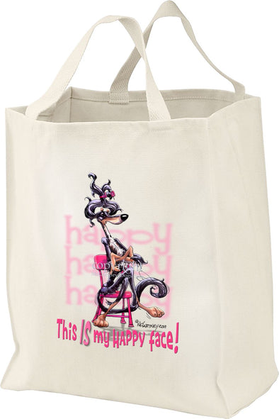 Saluki - Who's A Happy Dog - Tote Bag