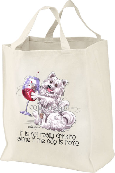 American Eskimo Dog - It's Not Drinking Alone - Tote Bag