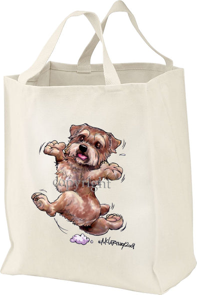 Norfolk Terrier - Happy Dog - Tote Bag
