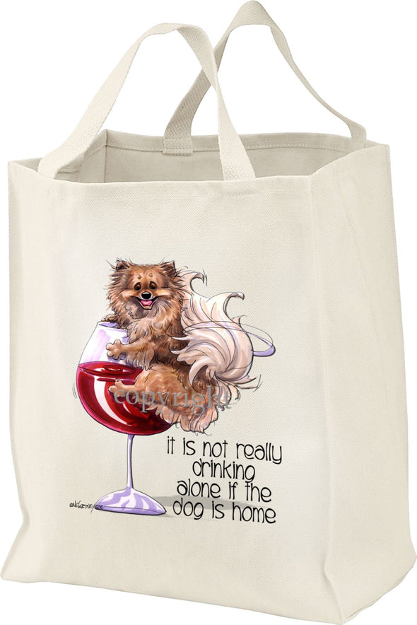 Pomeranian - It's Not Drinking Alone - Tote Bag