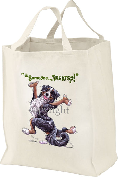 Bernese Mountain Dog - Treats - Tote Bag