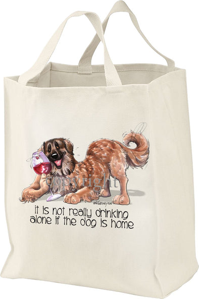 Leonberger - It's Not Drinking Alone - Tote Bag