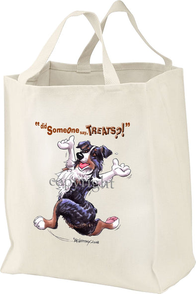Australian Shepherd  Black Tri - Treats - Tote Bag